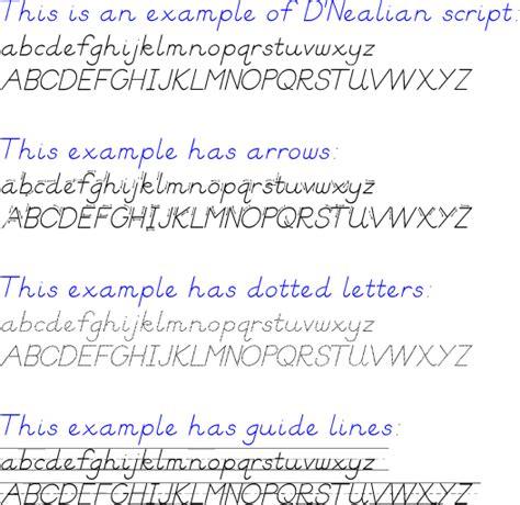 D Nealian Script Worksheets