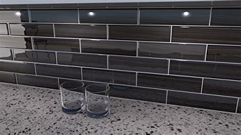 black and gray glass tile late 3x12 glass subway