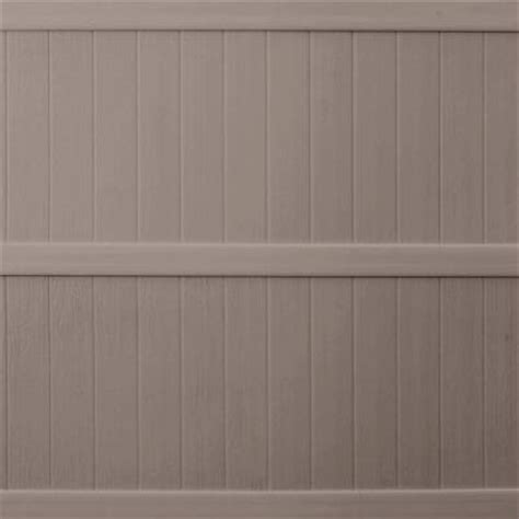 keter 6 ft x 6 ft taupe vinyl fence panel 202977 the