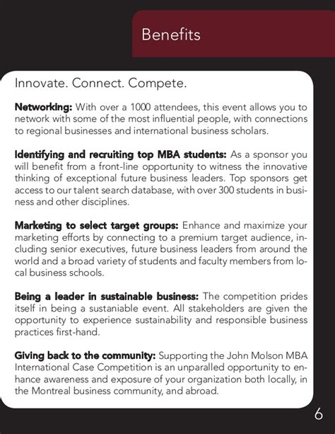 Molson Mba International Competition by Molson Mba International Competition Sponsorship