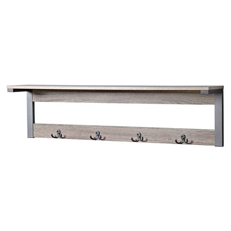 Wall Coat Rack Shelf by Homestar 1 Shelf 4 Hook Entryway Wall Mounted Coat Rack