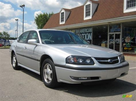 impala silver 2002 galaxy silver metallic chevrolet impala ls 31743280