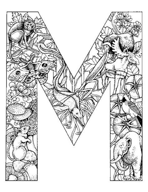 alphabet coloring pages m alphabet animal coloring pages m color pinterest