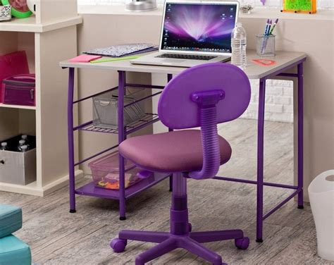 purple computer desk chair desk design