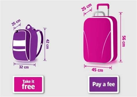 wizz cabin baggage wizzair large cabin baggage fee