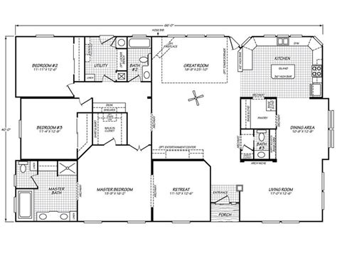 fleetwood manufactured homes floor plans riverknoll 40663k fleetwood homes houses pinterest