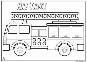 free firetruck coloring pages