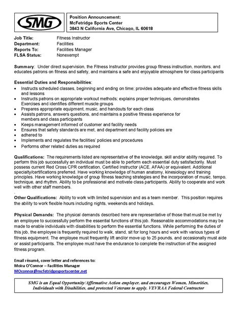 notices mcfetridge sports center