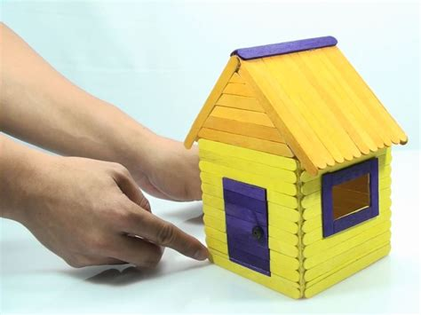 how to make a doll house with popsicle sticks how to build a popsicle house 8 steps with pictures wikihow