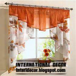 Curtain In Kitchen Small Curtains Models For Kitchens In Different Colors