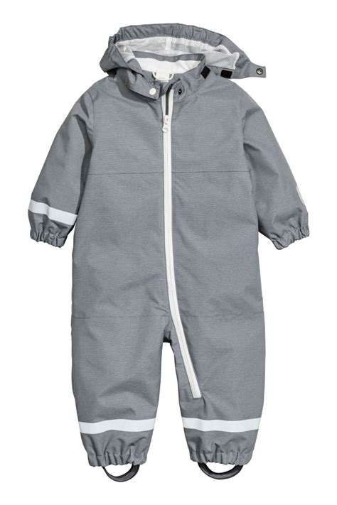 Yuleta Set Overal 2 shell jumpsuit gray sale h m us