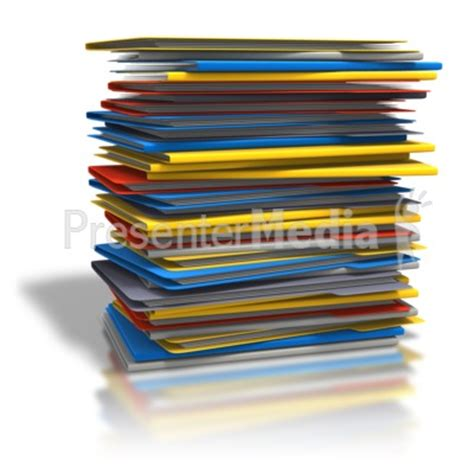 pile of folders home and lifestyle great clipart for