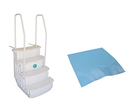 Above Ground Pool Ladder Mat - access istep above ground swimming pool deck entry