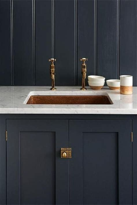 devol bathrooms devol s shaker kitchen pantry blue with carrara marble