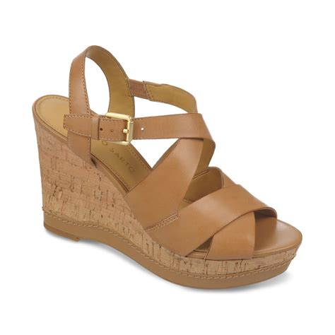 franco sarto sandals franco sarto shiver platform wedge sandals in brown clay