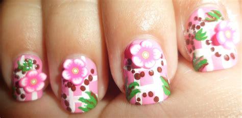 Fimo Nail by Madjennsy Nail Pink Fimo Floral Baby Nail