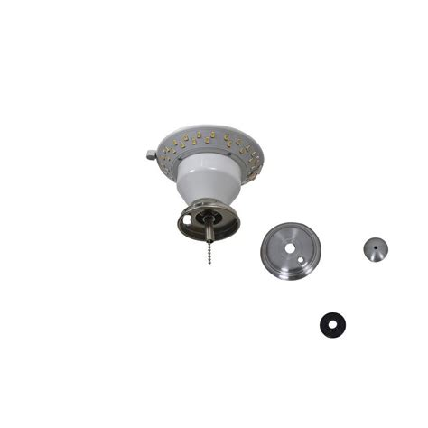 ceiling fan led light kit air cool carrolton ii 52 in led brushed nickel ceiling