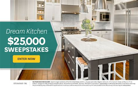 Kitchen Contests And Sweepstakes - bhg win dream kitchen 25 000 sweepstakes usa contests