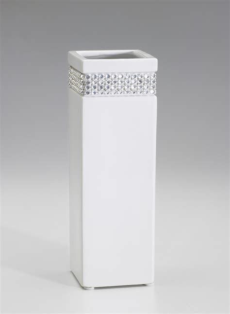 white black modern tabletop vase metal square flower plant tall square rhinestone vase white vases for centerpieces