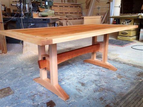 craftsmen trestle table craftsman dining tables trestle
