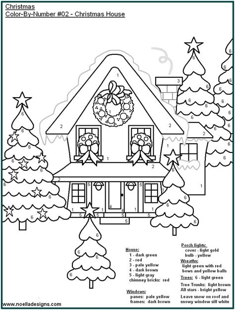 coloring pages christmas color by number christmas