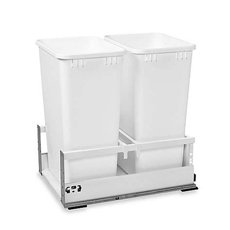 15 inch trash cabinet rev a shelf 174 15 inch tandem double pull out waste