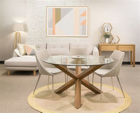 glas top tables esszimmer cowell dining furniture modern by dezign furniture and