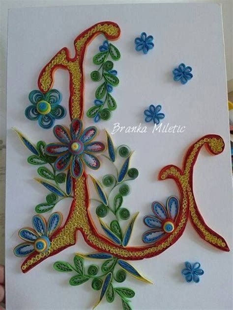 printable letters for quilling my daughter s wish quilling by branka miletić