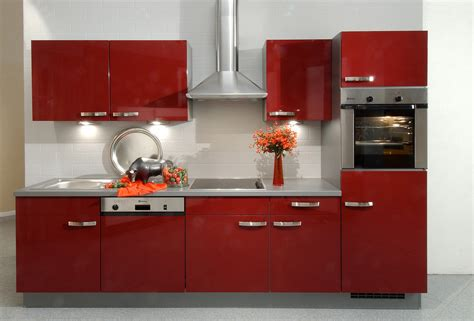 red kitchen furniture deep red kitchen cabinets rendering hd