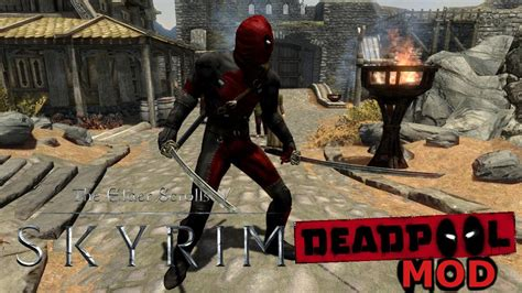 mod gta 5 deadpool skyrim mods mod do deadpool youtube