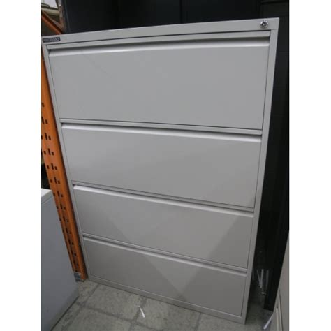 performance 4 drawer beige locking lateral filing cabinet
