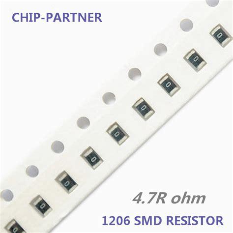 Resistor Smd 100 Ohm 1206 1 10 Pcs 200pcs lot 1206 chip resistor 470 ohm 5 1 4w smd resistor