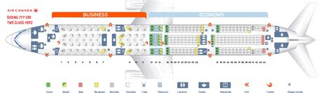 Seat Map Boeing Air Canada by Seat Map Boeing 777 200 Air Canada Best Seats In Plane