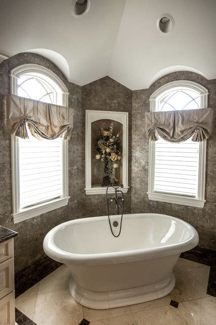 Window Treatments For Bathroom Window In Shower Bathroom Window Treatments Traditional Bathroom Chicago By Linly Designs