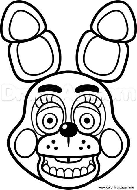 Fnaf 2 Coloring Pages by Print Mangle Golden Freddy Fnaf Coloring Pages