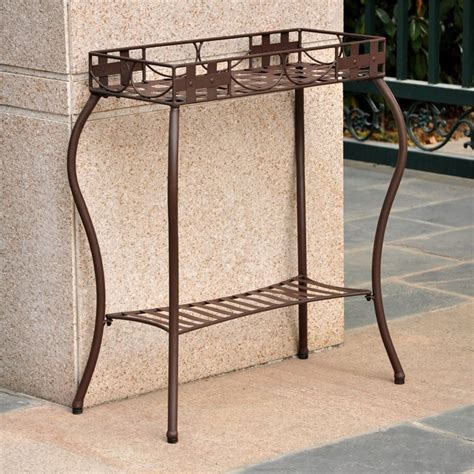Wrought Iron Planter Stands by Santa Fe Wrought Iron Plant Stand In Bronze 3561