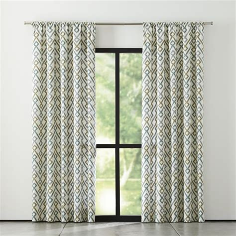 grey green curtains maddox khaki grey curtains crate and barrel