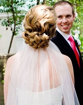 Wedding Updo With Veil Above by Veil Above Or Below Updo The Knot