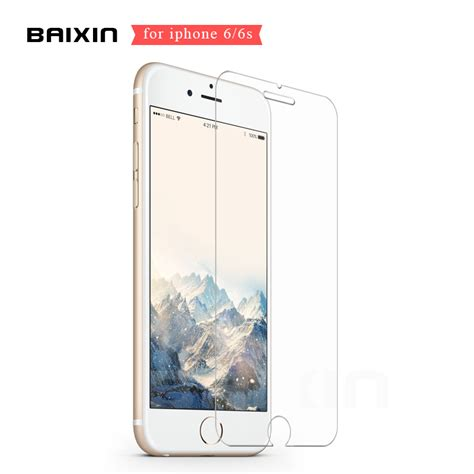 Tempered Glass Clear Screen Protector Iphone 6 4 7 baixin for iphone 6 6s clear tempered glass 0 26mm 2 5d screen protector for iphone 6 6s 6 s 4 7