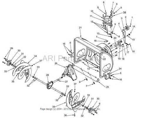 mtd yard machine snowblower parts diagram mtd free engine image for user manual