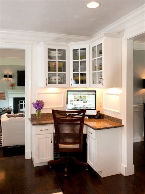 kitchen built in desk corner station home sweet home