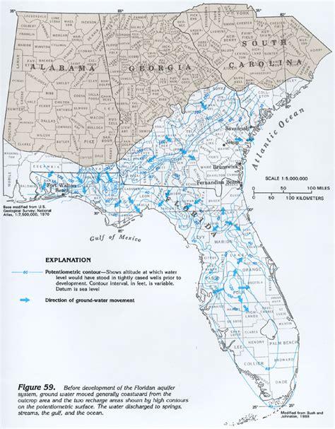 florida aquifer map ha 730 g floridan aquifer system ground water flow