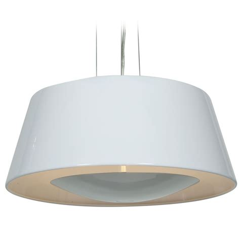 Drum Shade Pendant Light Access Lighting Soho Glossy White Pendant Light With Drum Shade 23765 Gwh Destination Lighting