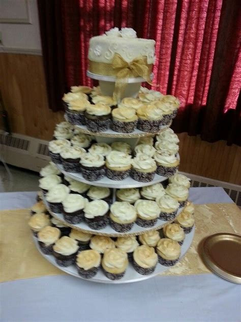 anniversary cupcake tower sharons cakes  anniversary cakes anniversary cupcakes