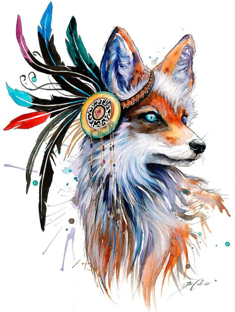 in nature spectrum signed art print fox wild life wolf