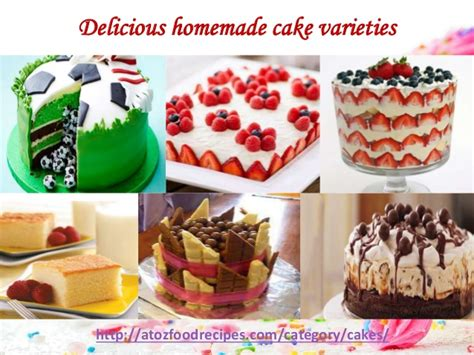 delicious homemade cake varieties