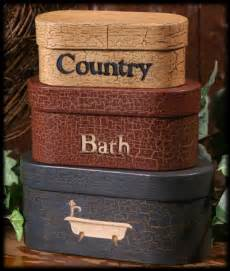 country primitive bathroom decor tissue box covers
