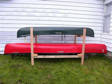 diy canoe rack a bunk bed for town discovery 119