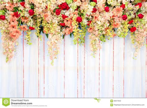 Wedding Ceremony Background by Flower Curtain Backdrop Curtain Menzilperde Net