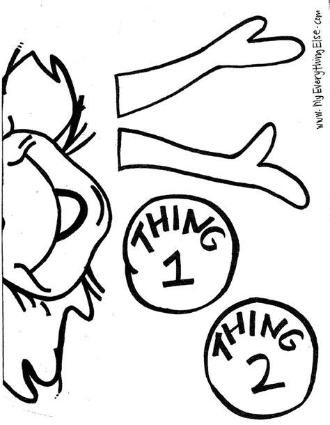 thing 1 template thing 1 and 2 coloring sheets on coloring pages
